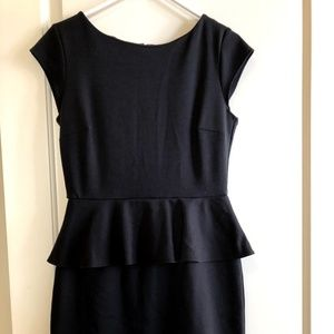 Black Peplum New York & Company Dress